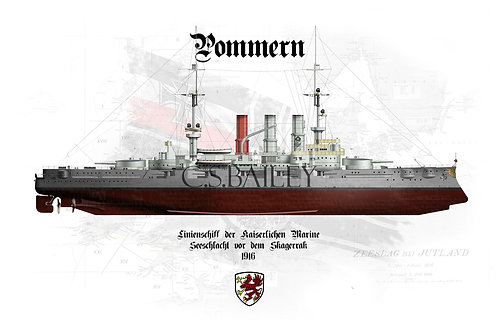 SMS Pommern FH t-shirt