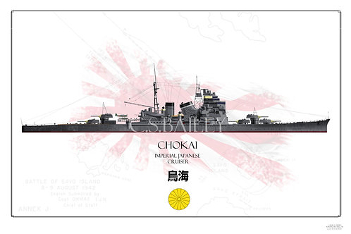 IJN Chokai WL Print