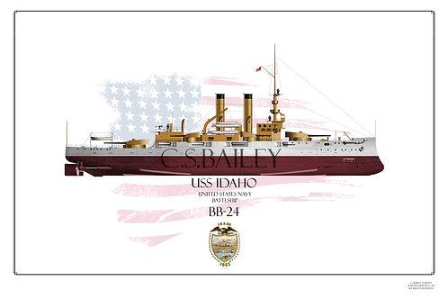 USS Idaho BB-24 FH print