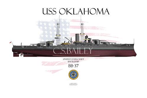 USS Oklahoma BB-37 FH 1918