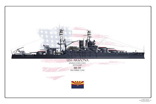 USS Arizona BB-39 Print