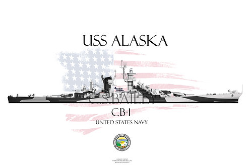 USS Alaska Dazzle WL T-shirt