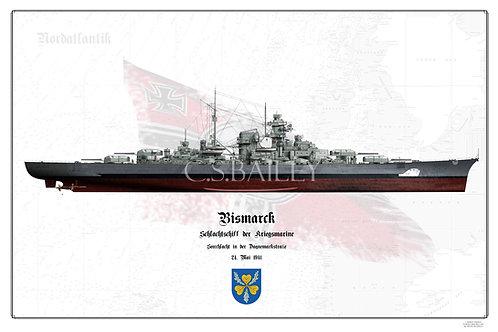 Bismarck Denmark strait camo FH print