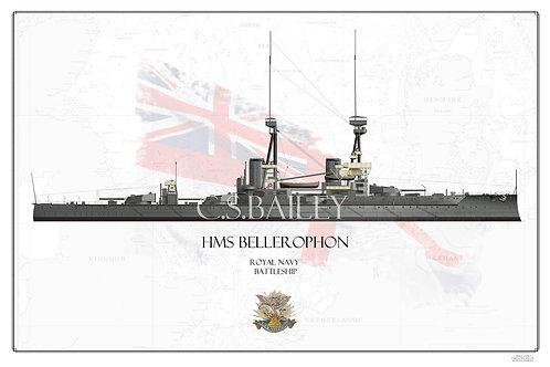 HMS Bellerophon WL print