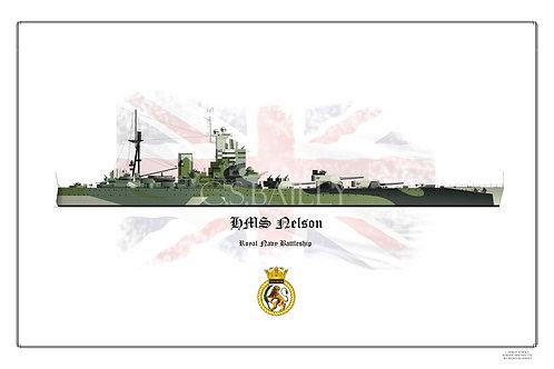 HMS  Nelson WL Print