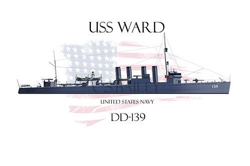 USS Ward WL T-shirt