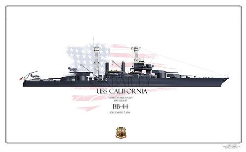USS California 1941 BB-44