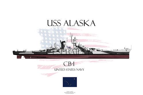USS Alaska Dazzle FH T-shirt