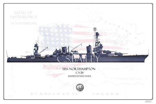 USS Northampton CA-26 WL Print