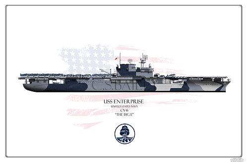 USS Enterprise CV-6 WL Dazzle 1944