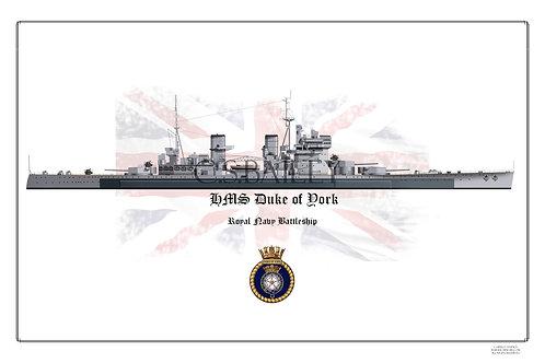 HMS Duke of York WL Print