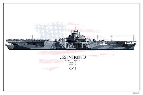USS Intrepid CV-11 W/L Print