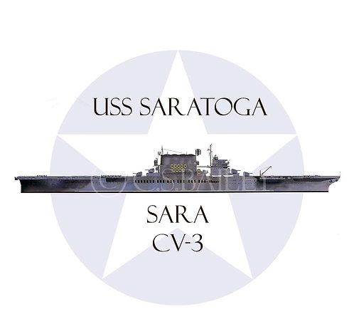 USS Saratoga 1945 CV-2