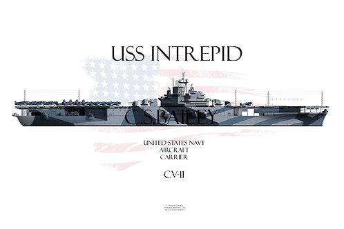 USS Intrepid CV-11 WL t-shir
