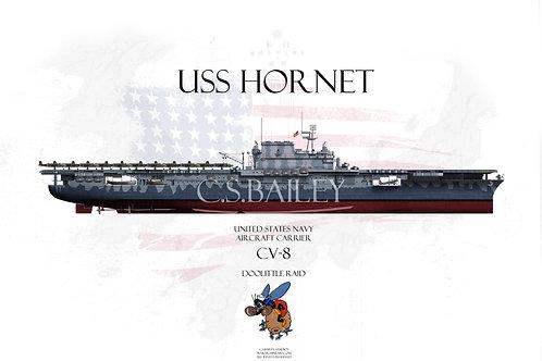USS Hornet FH Doolittle Raid T-shirt