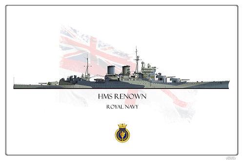 HMS Renown Wl Print
