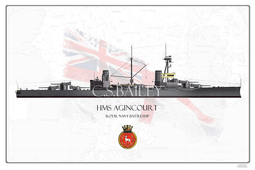 HMS Agincourt WL Print