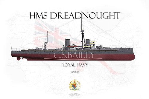 HMS Dreadnought F/H t-shirt