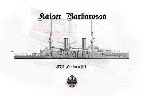 SMS Kaiser Barbarossa WL t-shirt