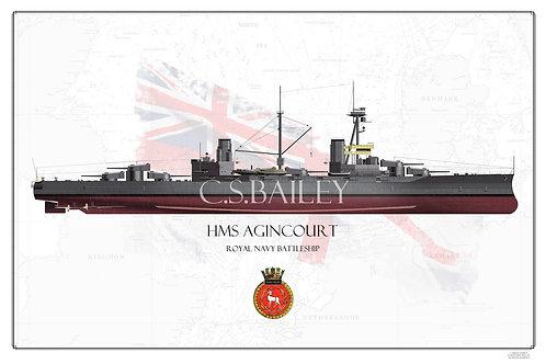 HMS Agincourt FH Print