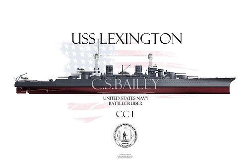 USS Lexington CC-1 FH 1941 t-shirt