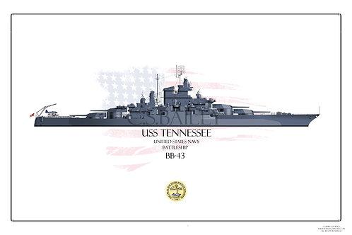 USS Tennessee 1944 WL BB-43 Print