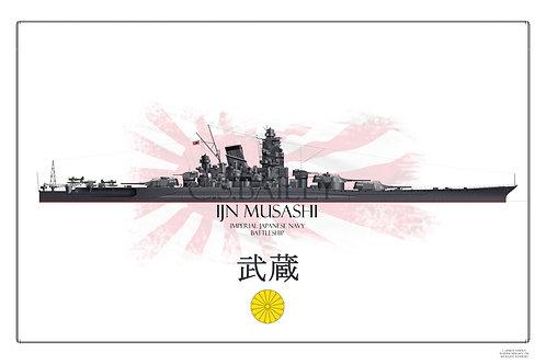 IJN Musashi WL print