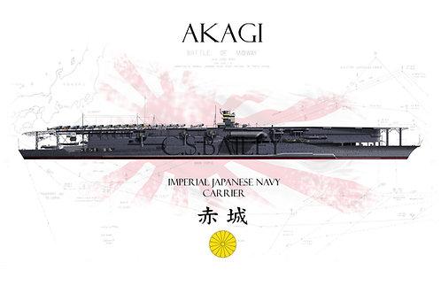 IJN Akagi Midway WL t-shirt