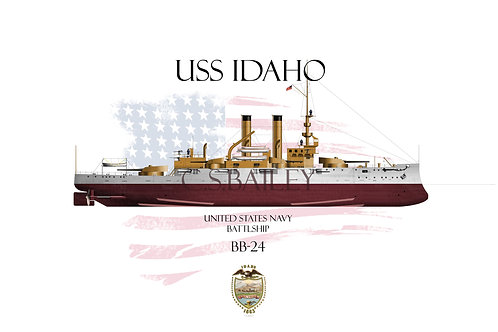 USS Idaho BB-24 FH T-shirt