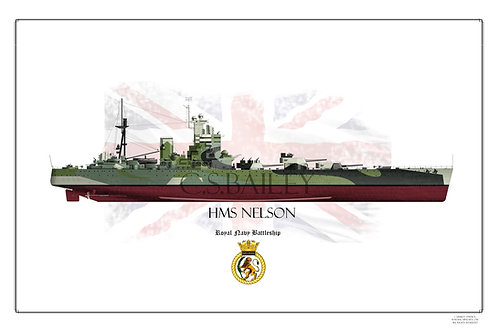 HMS Nelson FH Print