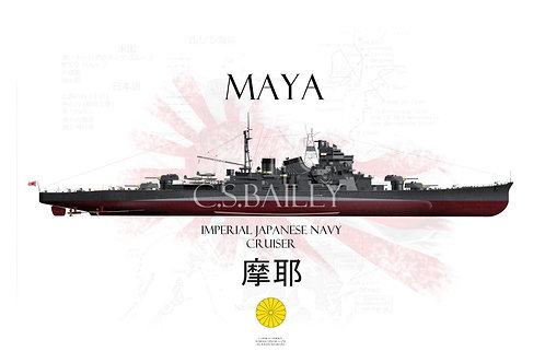 IJN Maya FH t-shirt