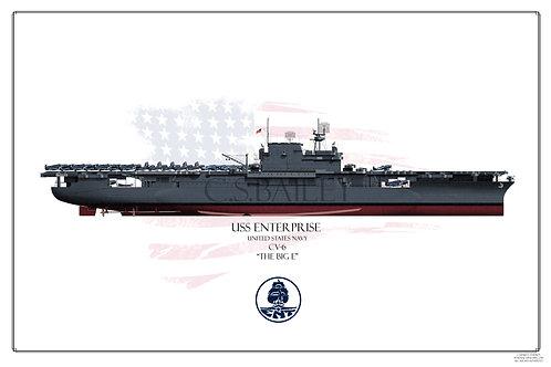 USS Enterprise CV-6 FH Ms 21Print