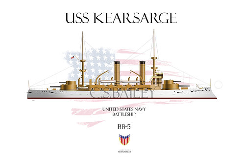 USS Kearsarge BB-5 WL T-shirt