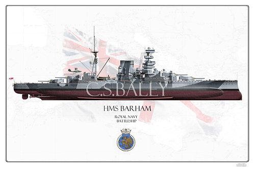 HMS Barham FH print