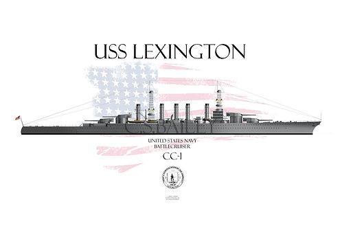 USS Lexington CC-1 1918