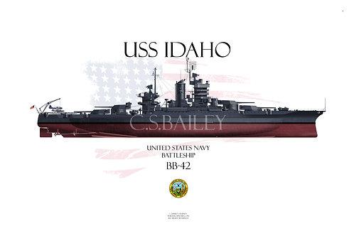 USS Idaho  BB-42 FH t-shirt