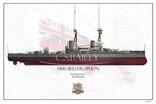 HMS Bellerophon FH print