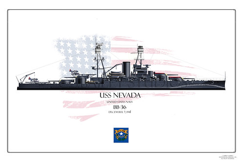 USS Nevada BB-36 Print