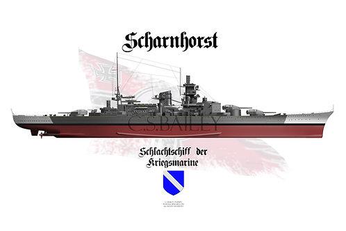 KMS Scharnhorst  Full hull T-shirt