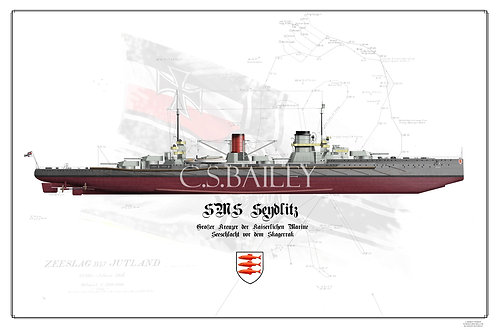 SMS Seydlitz FH Jutland print
