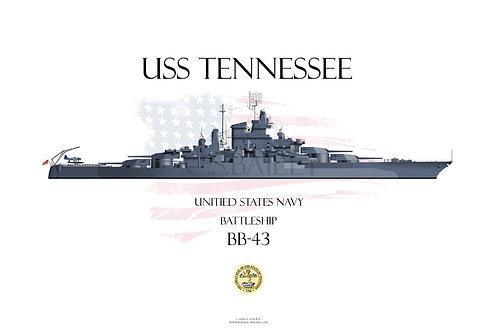USS Tennessee BB-43 1944 WL T-shirt