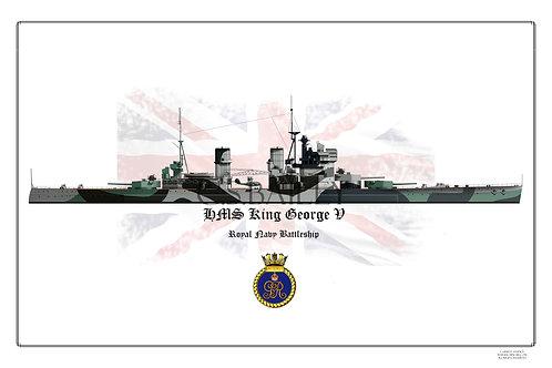 copy of HMS King George V W/L print