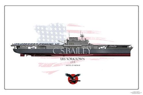 USS Yorktown CV-5 FH Print