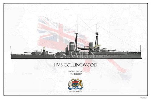 HMS Collingwood WL Print