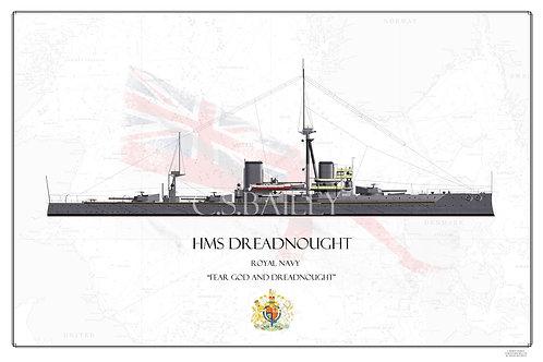 HMS Dreadnought WL Print