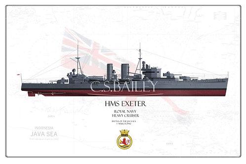 HMS Exeter FH print