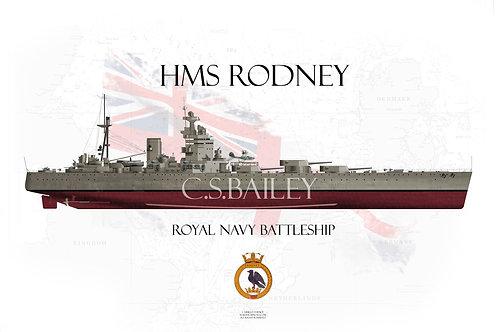 HMS Rodney FH t-shirt