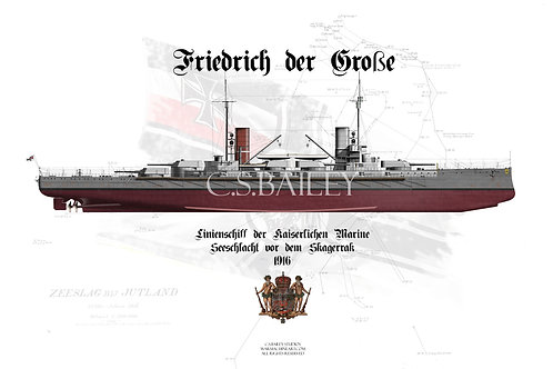 SMS Friedrich der Grosse FH T-shirt