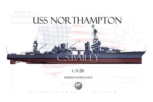 USS Northampton CA-26 FH T-shirt