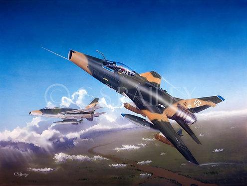 F-100 Super Saber Print